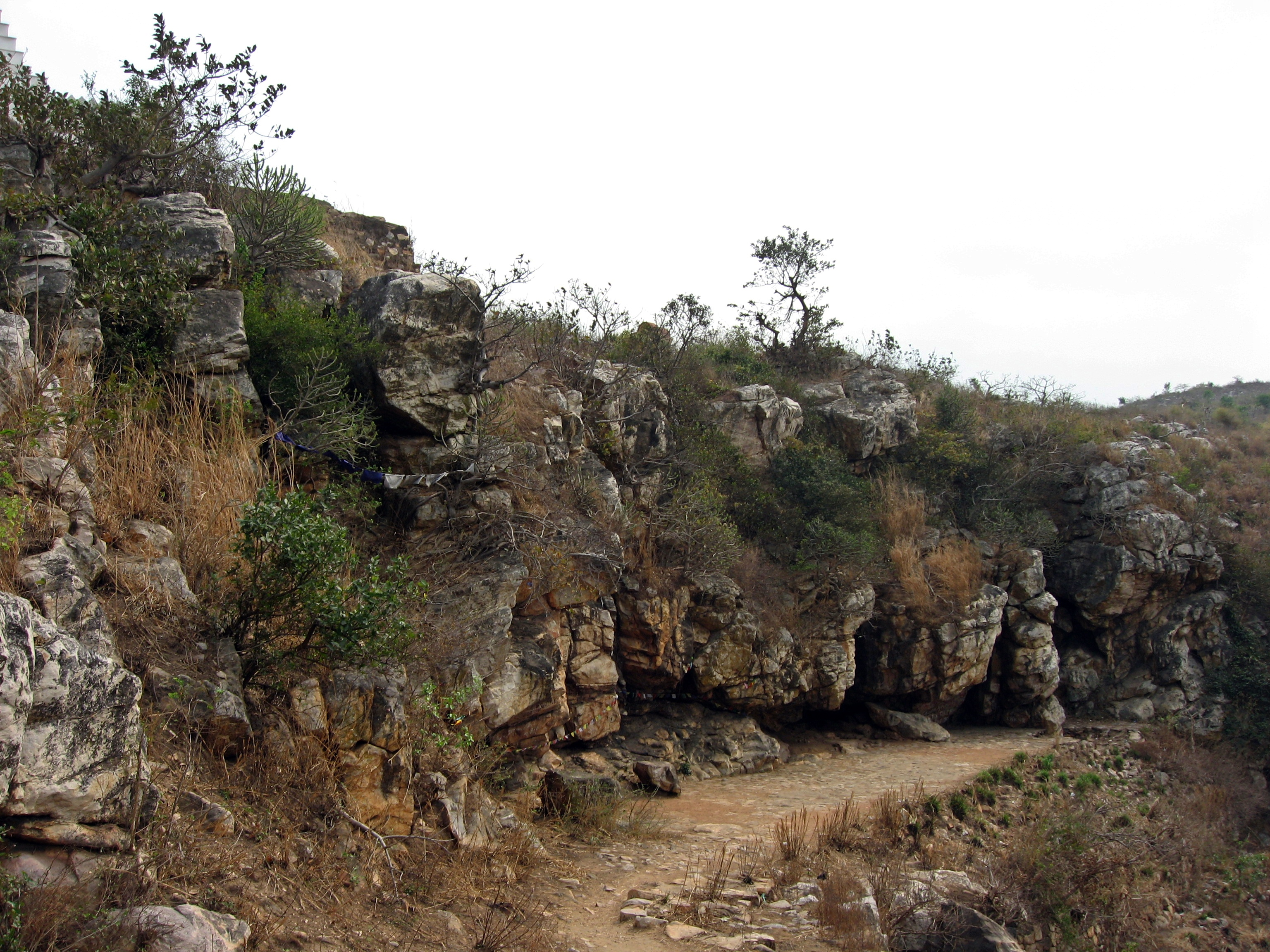 Sattapanni Cave near Rajgir, Bihar, India - location of the first Buddhist Council
