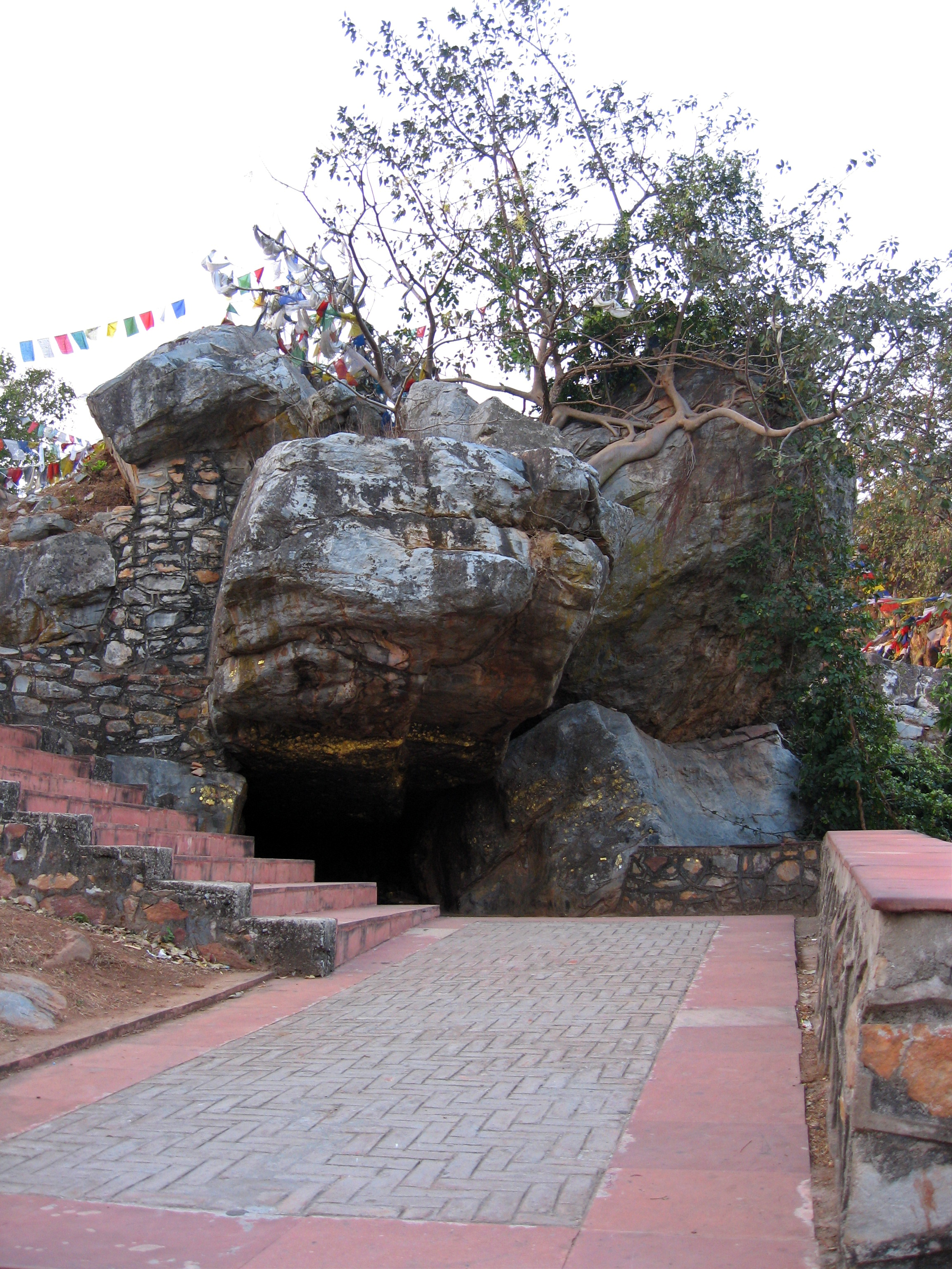 Sukarakhata (Boar's Grotto) on Gridhakuta (Vulture Peak) near Rajgir, Bihar, India