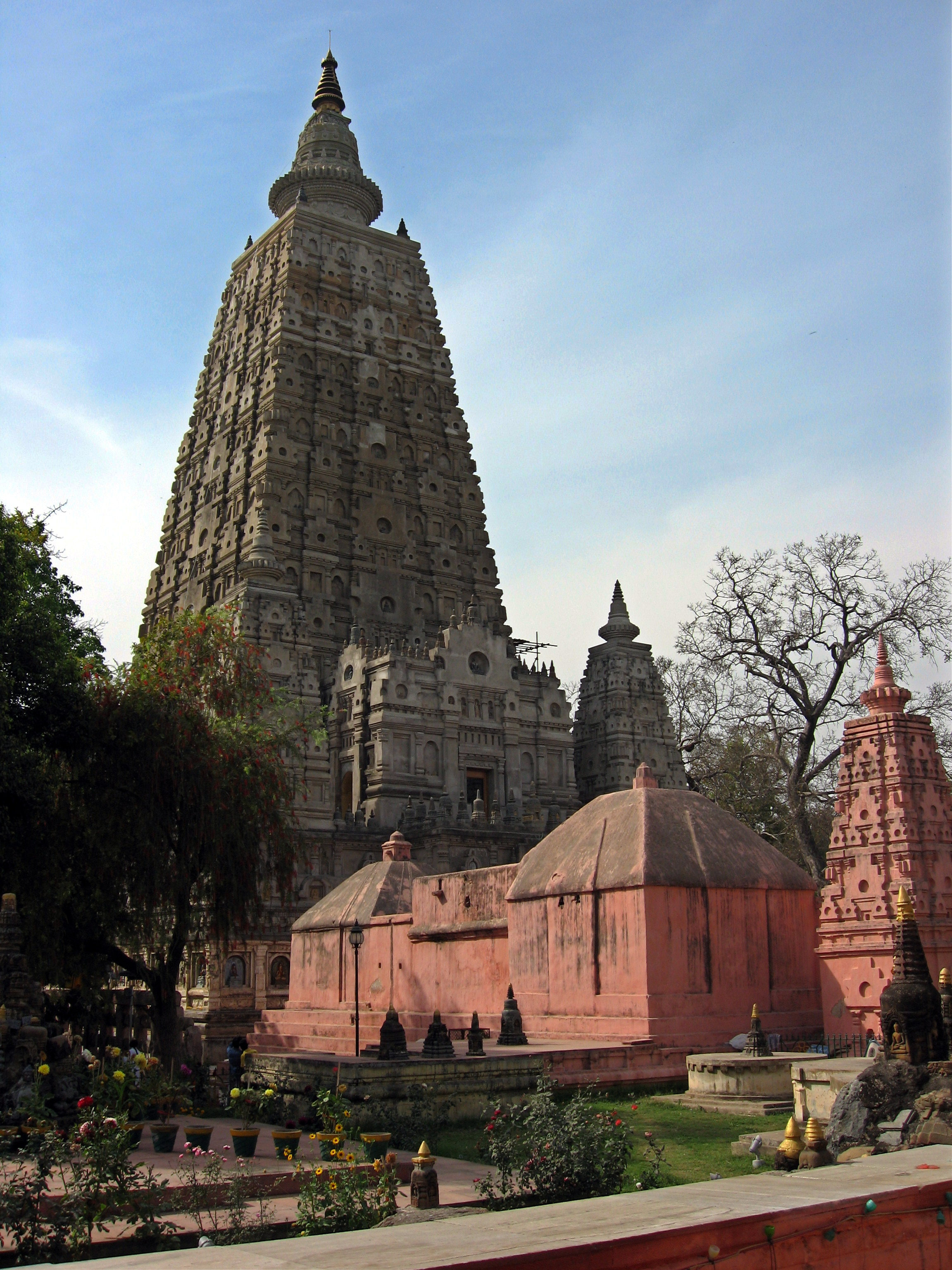 Mahabodhi Temple, Bodhgaya, Bihar, India, view from southeast