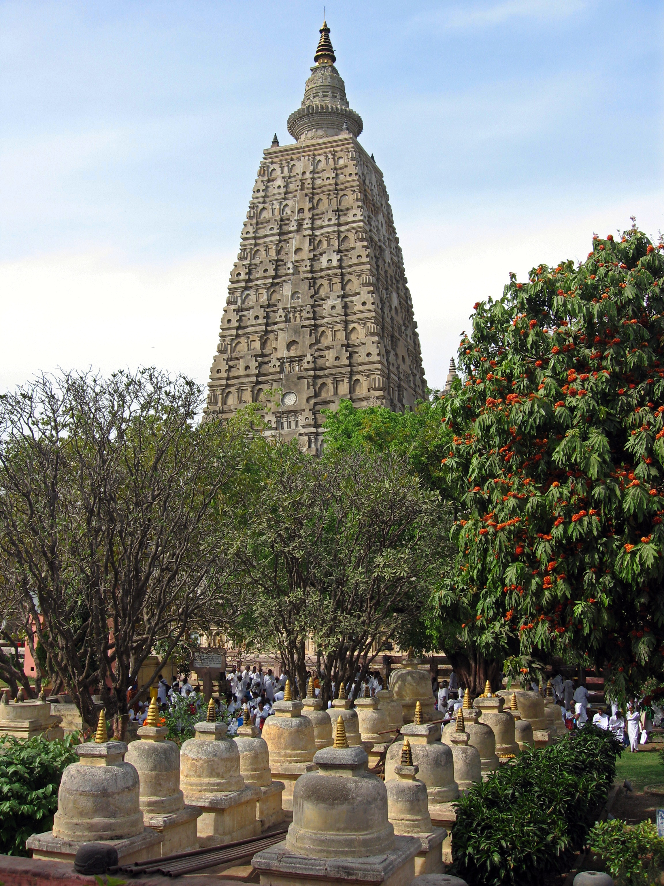 Mahabodhi Temple, Bodhgaya, Bihar, India, view from south