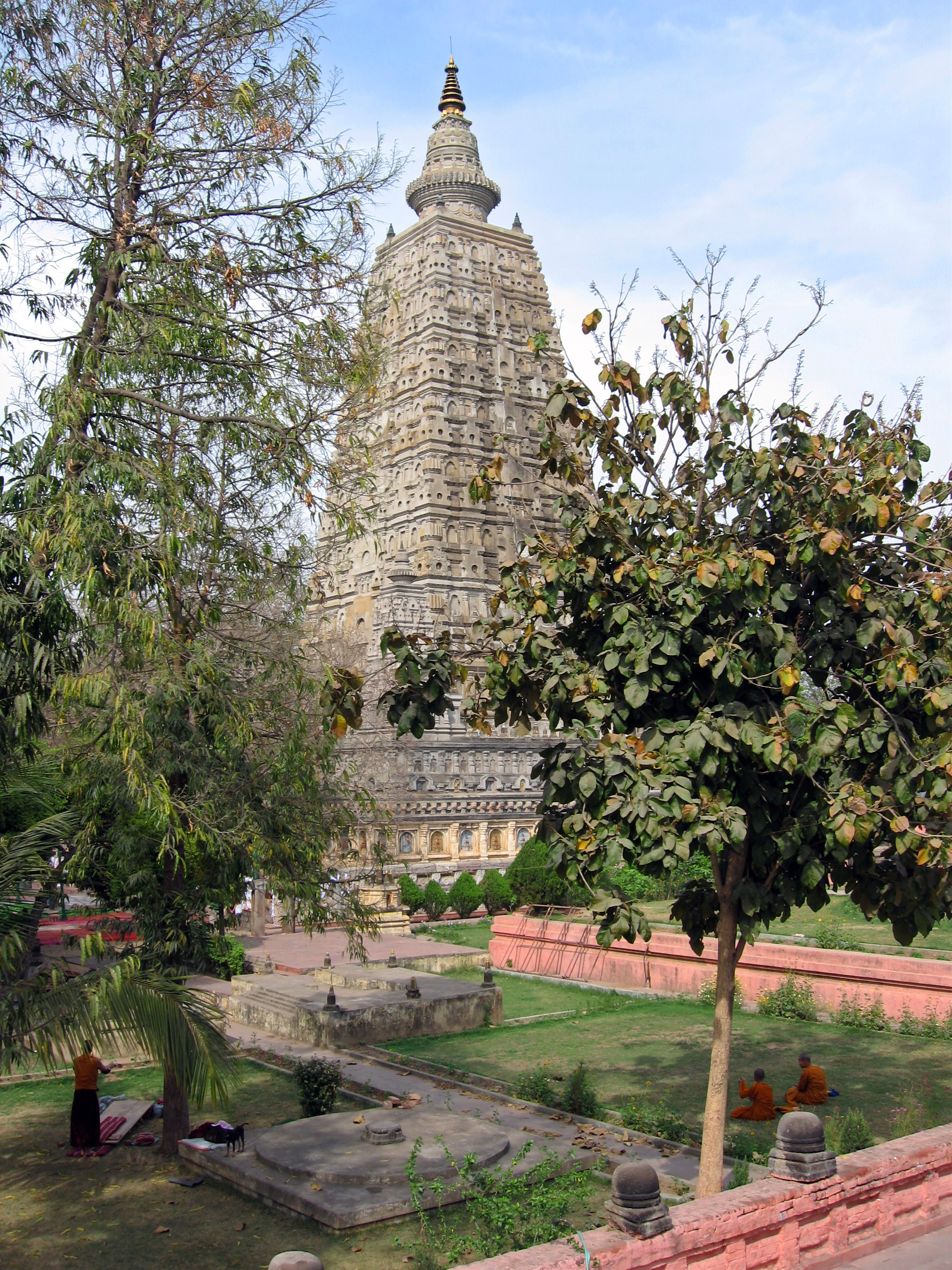 Mahabodhi Temple, Bodhgaya, Bihar, India, view from southwest