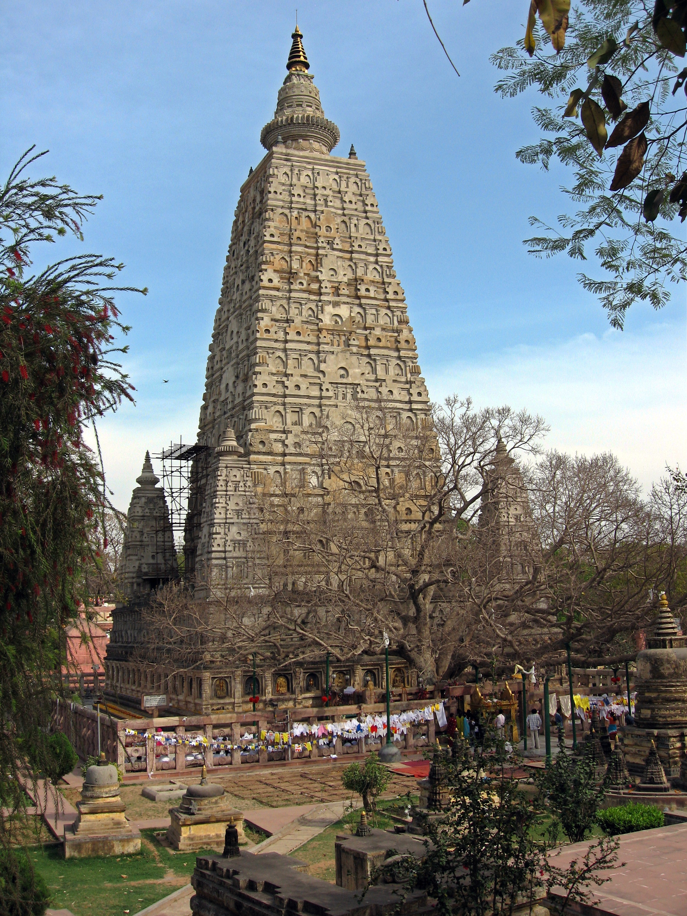 Mahabodhi Temple, Bodhgaya, Bihar, India, view from northwest