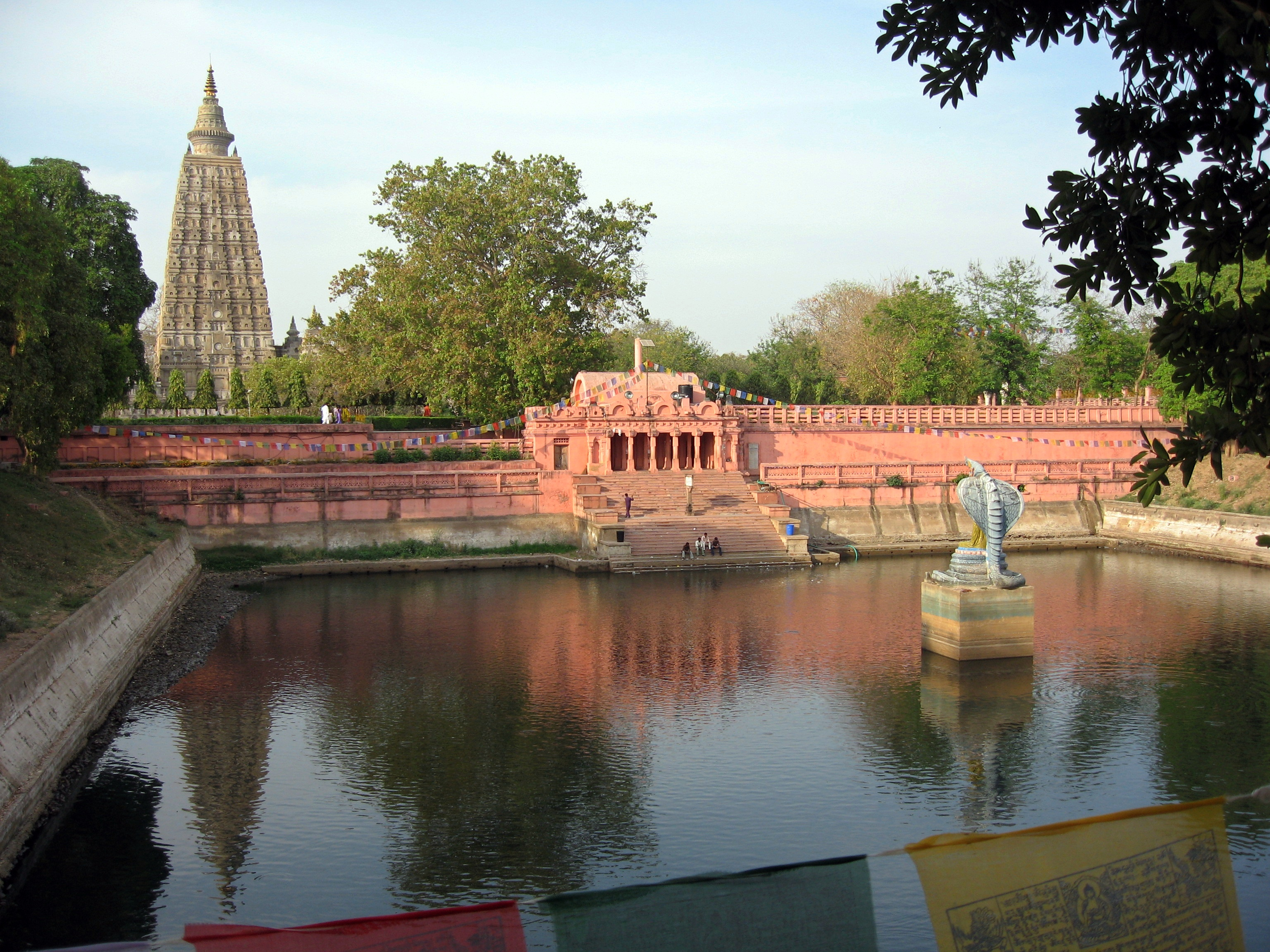 Mucalinda Tank south of the Mahabodhi Temple, Bodhgaya, Bihar, India